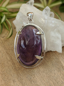Amethyst large oval pendant 25g