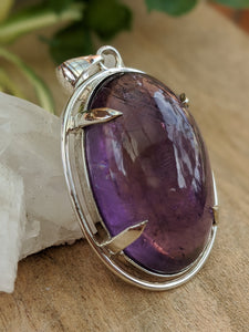 Amethyst large oval pendant 25g - Nature's Magick