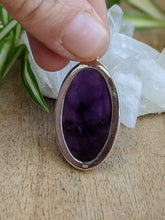 Amethyst oval cabochon pendant 14g - Nature's Magick