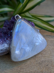 Moonstone large triangle pendant 23g