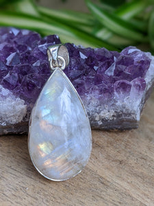 Moonstone small teardrop pendant 7g