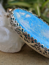 Turquoise large oval pendant 31g