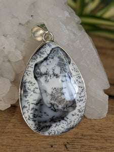 Dendritic Opal teardrop pendant 9g - Nature's Magick