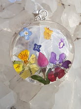 Blue Turtles Wildflowers Collection - Large Mixed Bouquet Circle Pendant