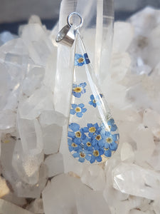 Blue Turtles Wildflowers Collection - Forget-me-not Long Drop Pendant
