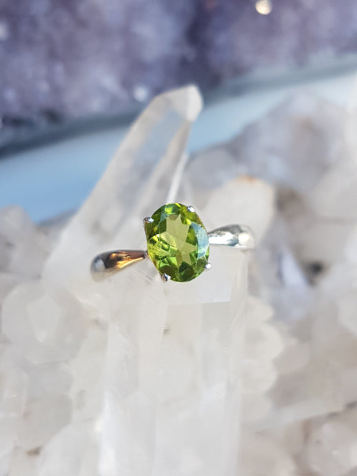 Blue Turtles Peridot Ring s.9