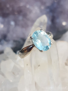 Blue Turtles Aquamarine Ring s.7