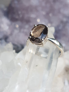 Blue Turtles Smokey Quartz ring s.8