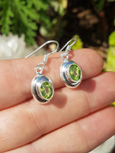 Peridot faceted oval earrings - Nature's Magick