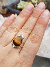 Tiger's Eye teardrop ring s.6.5 - Nature's Magick