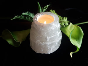 Selenite Castle Tea-light Holder