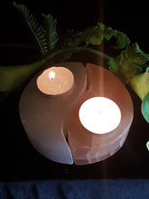 Selenite Yin Yang Tea-light Holder
