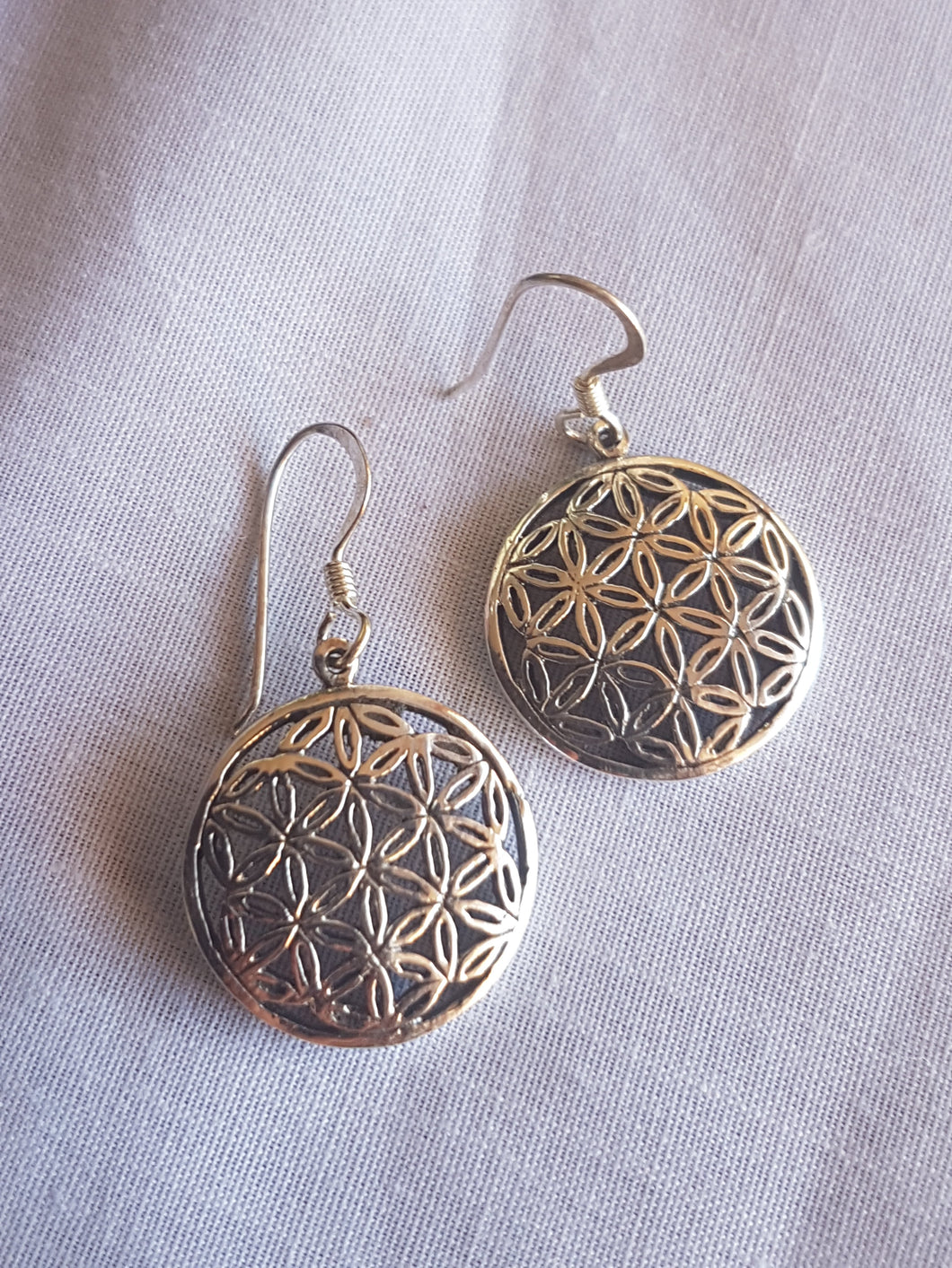 Silver Flower of life earrings - Nature's Magick