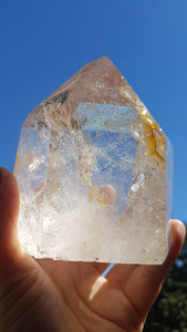 Clear Quartz A grade polished point 452g