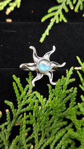 Labradorite sun ring s.6 - Nature's Magick