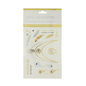 Metallic body art / temporary tattoos