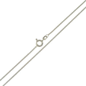 .935 Sterling Silver Trace Chain 1mm