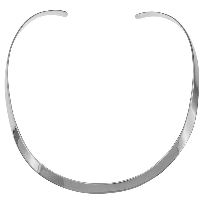 .935 sterling silver 6mm collar