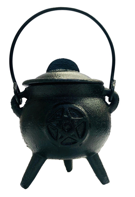 Cast Iron Cauldron - small pentagram design