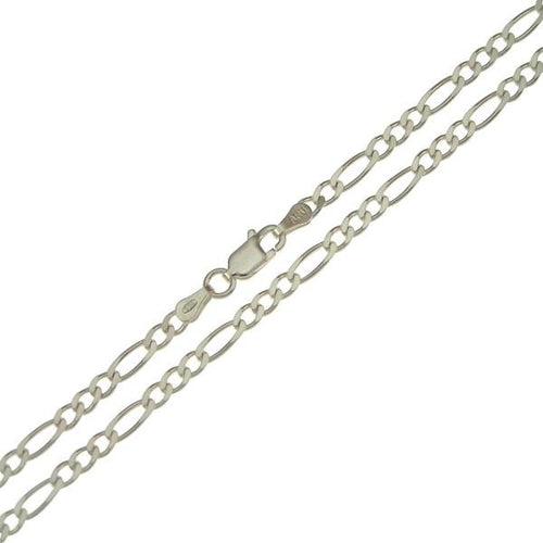 .935 Sterling Silver Figaro Chain 3mm