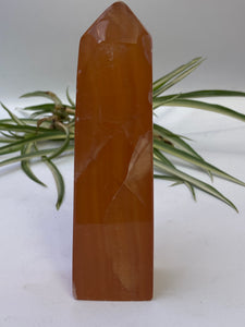 PC257 Honey Calcite Obelisk 329g