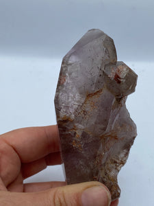 Smokey Amethyst Elestial with Rutile Inclustions 247g