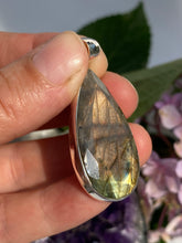 Labradorite Faceted Long Teardrop Pendant KPGJ1087