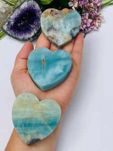 Amazonite Medium Hearts