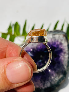 Citrine raw ring s.7 SGJ135