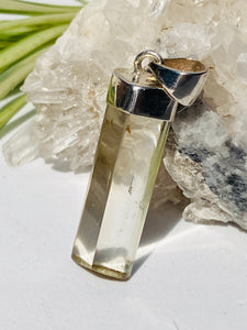 Citrine natural long triangular pendant KPGJ738