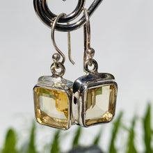 Citrine Square faceted Earrings KEGJ497