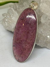 Rhodonite long oval pendant 17g