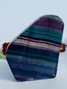 Rainbow Fluorite polished freeform slab C1444d