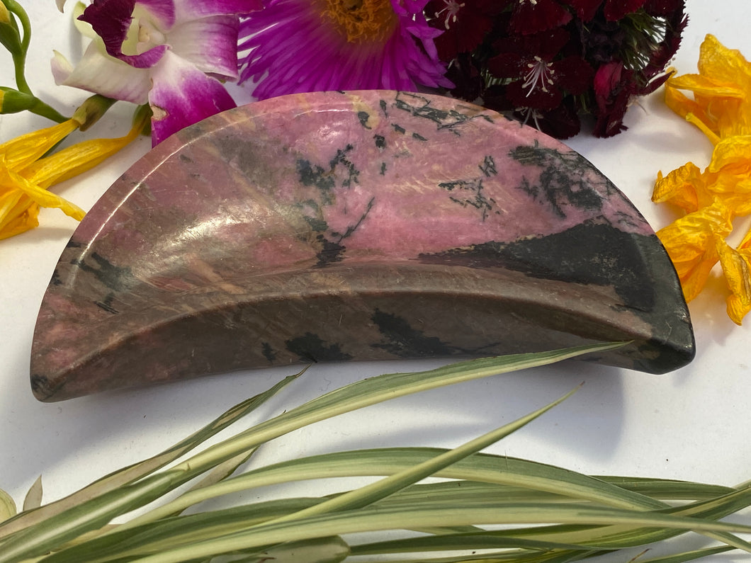Rhodonite Moon Bowl