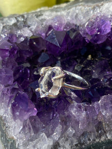 Diamond quartz  fine band ring s.6 PRGJ181