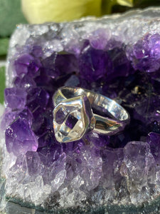 Herkimer Diamond quartz ring s.6.5 PRGJ184