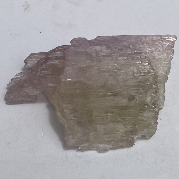 Kunzite bi-colour natural crystal - mineral specimen 442g