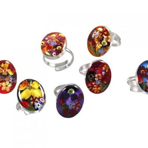Blue Turtles Wildflowers Collection - Wildflower Oval Ring