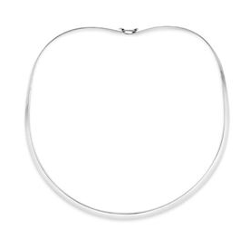 .935 sterling silver 4mm collar with or without clasp