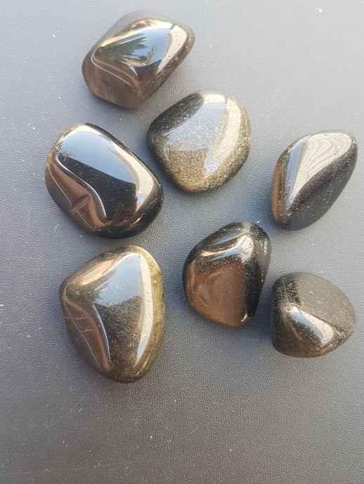 Tumbled Stone - Gold Sheen Obsidian
