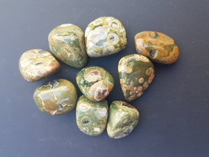 Tumbled Stone - Rainforest Jasper / Green Rhyolite
