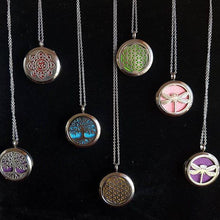 Aromatherapy diffuser locket pendants - stainless steel