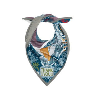 Gratitude Oversize Scarf with yellow