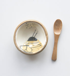 Tiny Bowl & Spoon - Bee