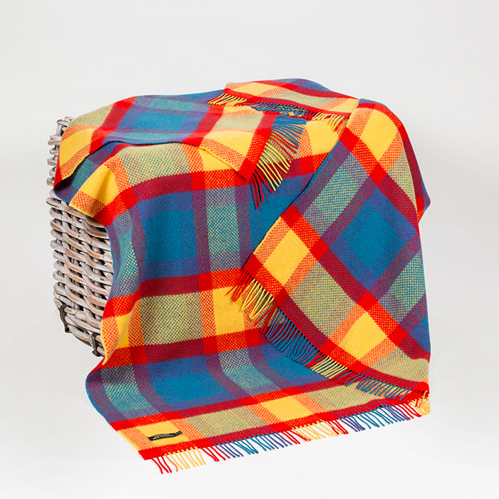 Merino and Cashmere Throw - Bold Check