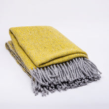 Undulating Twill Throw, Primrose