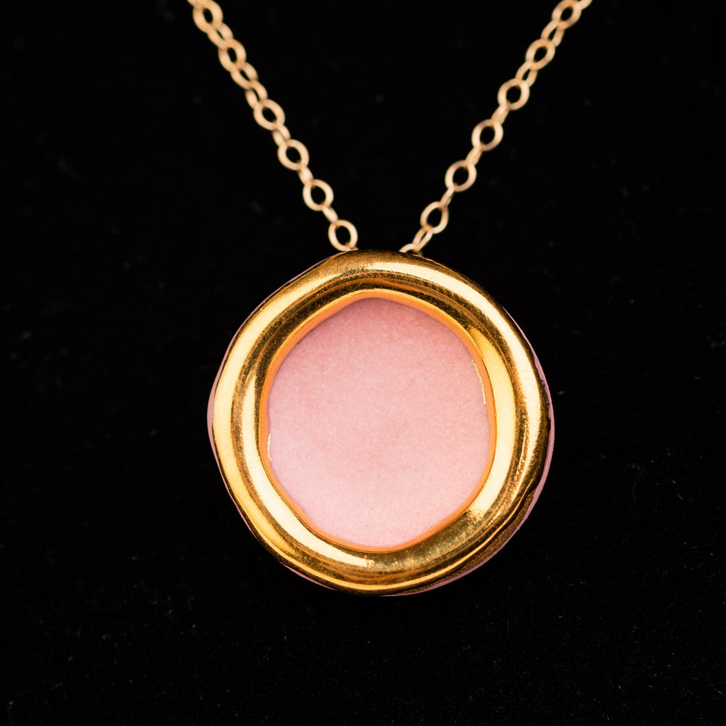 Halo Necklace, Dusty Pink
