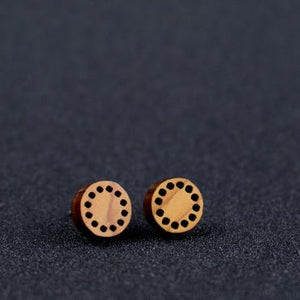 Grain Stud Earring (Colour Choice Available))