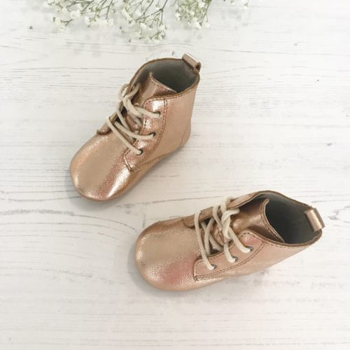 Rose Gold Boot Moccasins