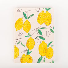Lemons Notebook A5, lined